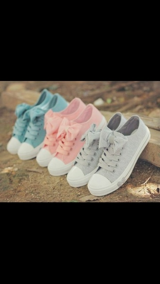 shoes converse sneakers with bows