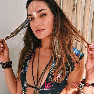 swimwear bikini top floral bikini