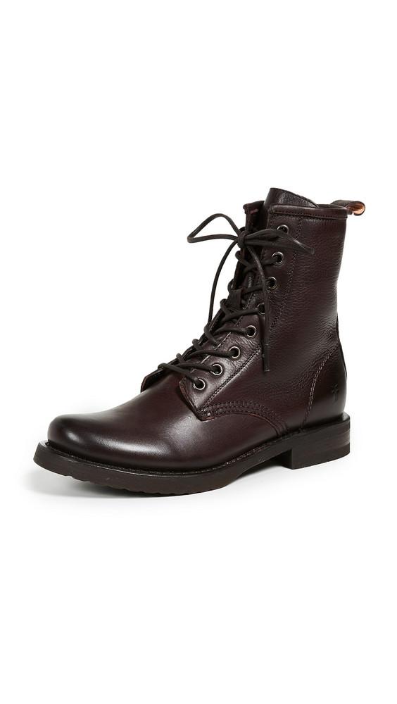 Frye Veronica Combat Boots in brown