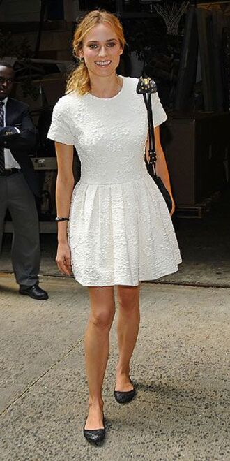 diane kruger white dress dress