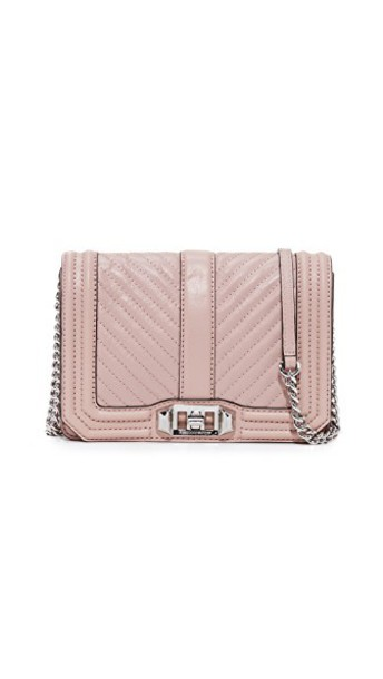 Rebecca Minkoff cross love quilted bag chevron vintage pink