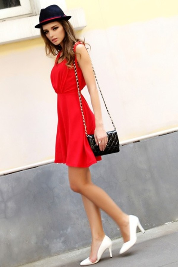 dress red dress short dress fashion fashion dress red