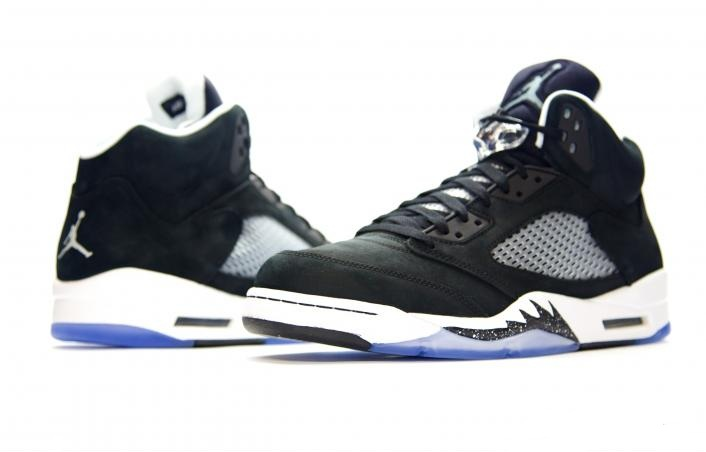 136027-035 Air Jordan 5 Oreo Black / White 2013