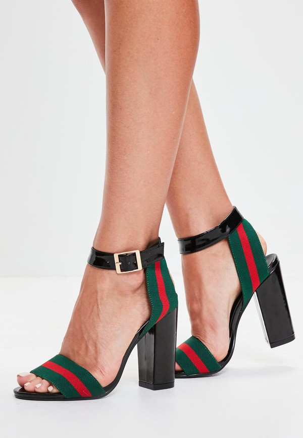4eebf12a53d shoes black block heels gucci inspired misguided