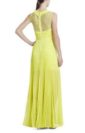 Caia Chiffon-Pleated Gown | BCBG