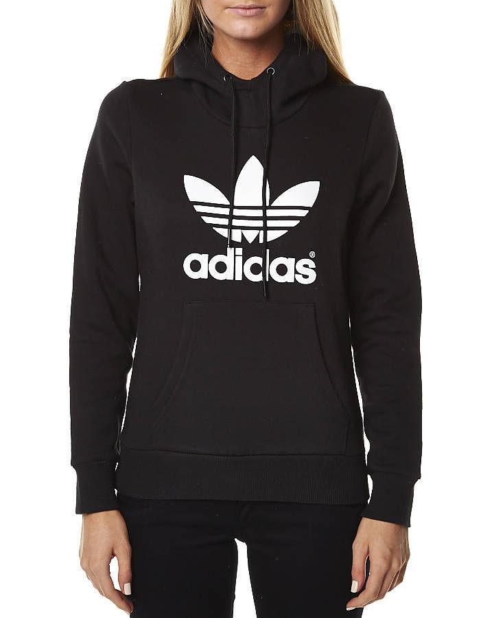 ba4ae94d1e1a New Adidas Originals Women s Trefoil Logo Hoodie Cotton Hoodie ...