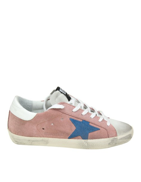 Golden goose sneakers. sneakers blue suede pink shoes