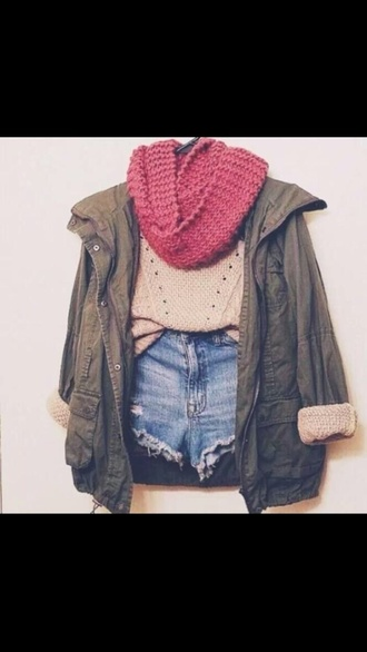 jacket army green fall outfits green coat