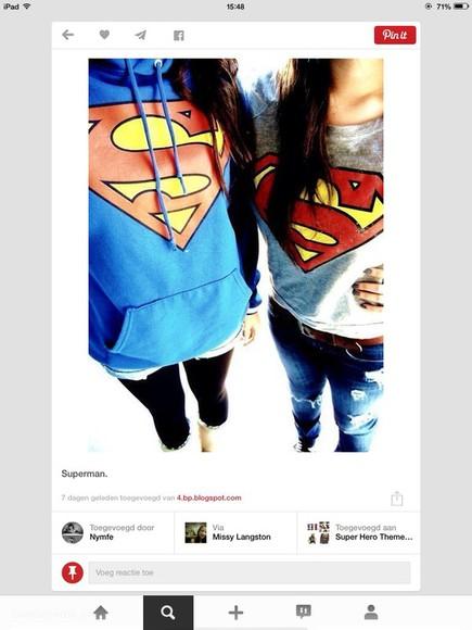superman superman hoodie swaeter superman shirt