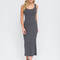 Bring on the basic ribbed maxi dress black charcoal navy burgundy olive - gojane.com