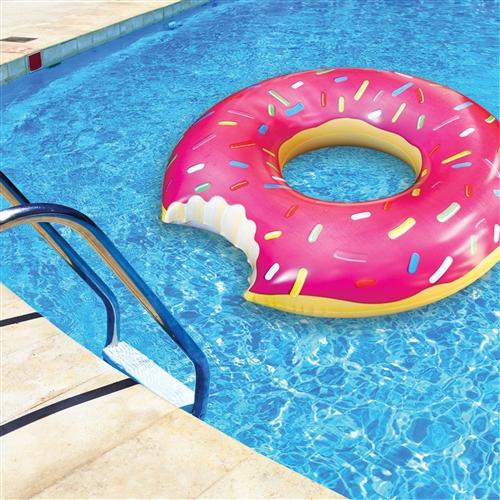 Opblaasbare donut zwemband 122 cm