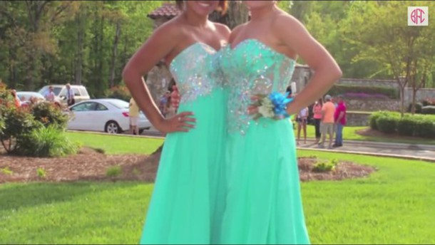 dress turquoise sequins prom dress