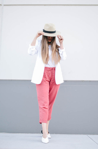 goldenswank blogger top jacket pants shoes hat