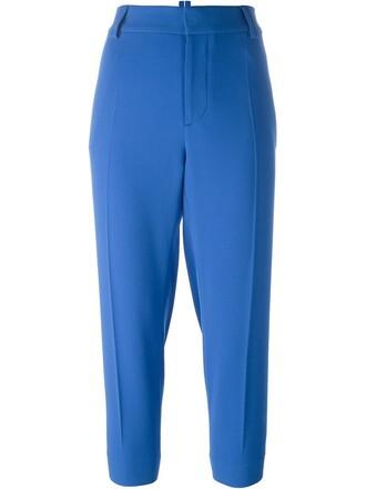 cropped blue pants