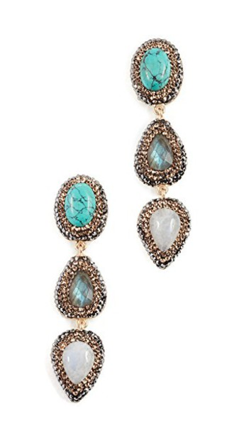 earrings pearl turquoise jewels