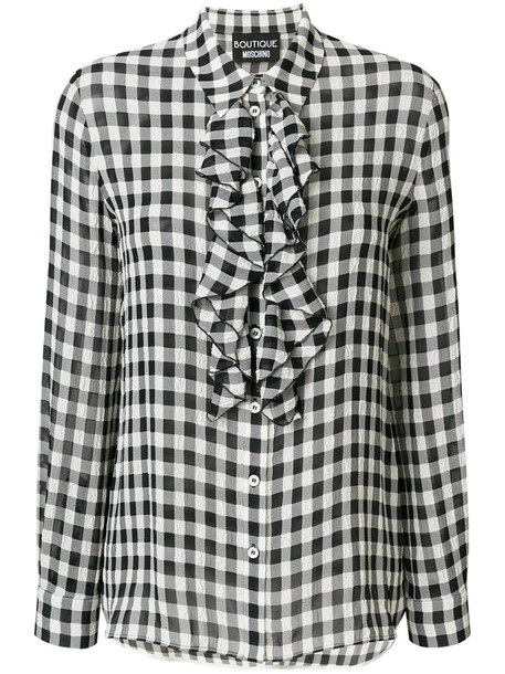 BOUTIQUE MOSCHINO blouse women black gingham top