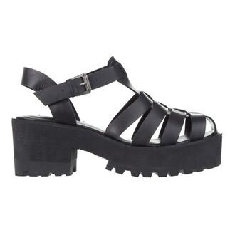 shoes black sandals