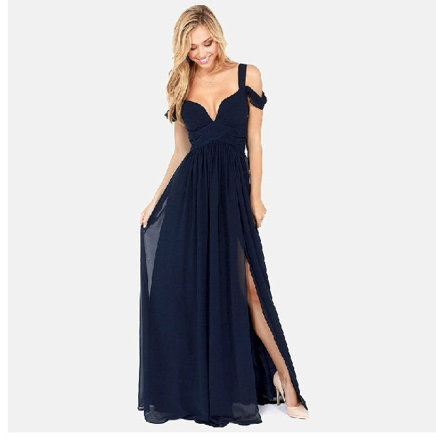 2014 New Fashion Women's Greek style Long Section Elegant Chiffon Folds Deep V neck Luxury Sexy Maxi Dress LQ4886-in Dresses from Apparel & Accessories on Aliexpress.com | Alibaba Group
