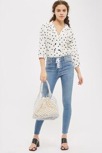 jeans lace blue