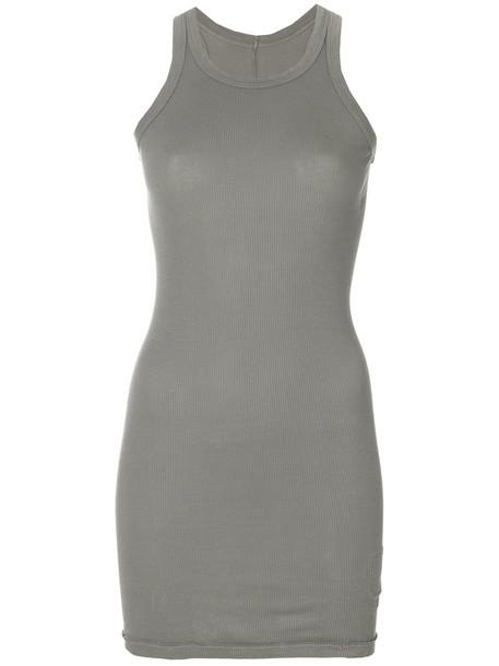 Rick Owens DRKSHDW tank top top long women cotton grey
