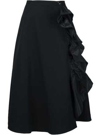 skirt ruffle black