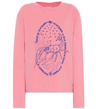 sweatshirt cotton pink sweater