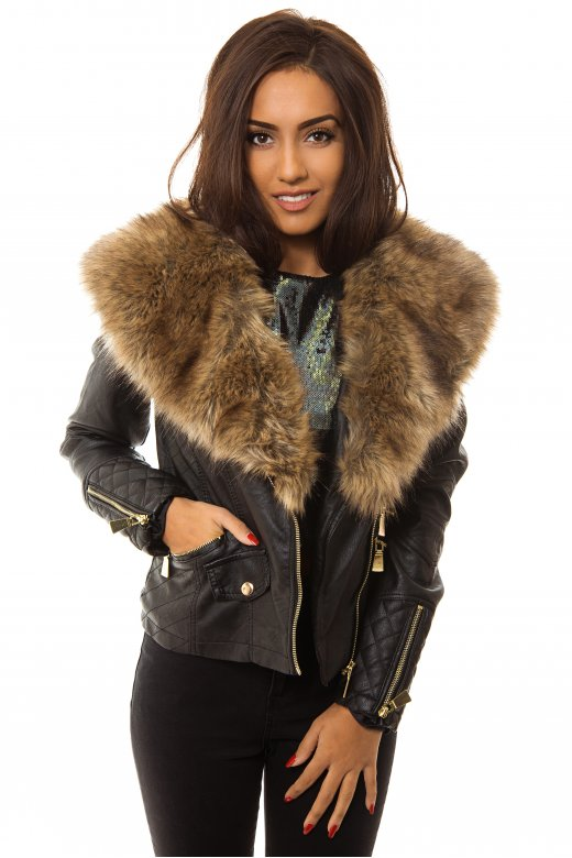 Description Women Fur Collar Brown Biker Jacket. Fur style leather jacket has its own unique style since decades of free-desktop-stripper.ml type of jackets were introduced with little changes in market and industry of fashion according to people's demand but the color style and its implementation was quite similar to all those previous free-desktop-stripper.ml are running after new styles and new way of clothing.