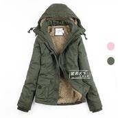 coat,camouflage,military style,winter coat,parka,army jacket coat military fur,hooded jacket,green jacket