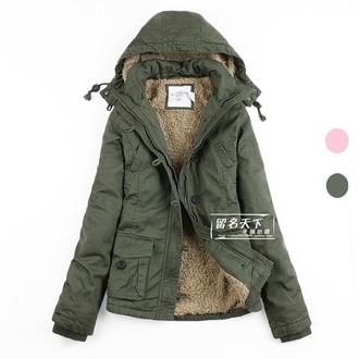 coat camouflage military style winter coat parka army jacket coat military fur hooded jacket green jacket