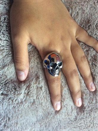 jewels ring skull jewelry silver ring asos menswear women unisex inspired rock
