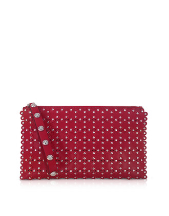 leather clutch clutch leather cherry bag