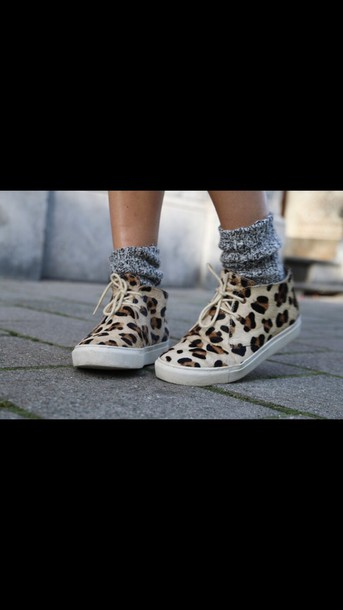 shoes leopard print sneakers
