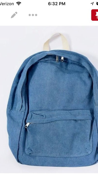 bag denim backpack