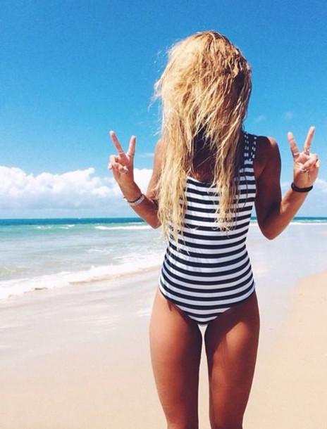 a1273a93ea5d0 swimwear, stripes, one piece, bikini, coverage, cute, teenagers ...