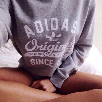 sweater adidas adidas originals grey grey sweater