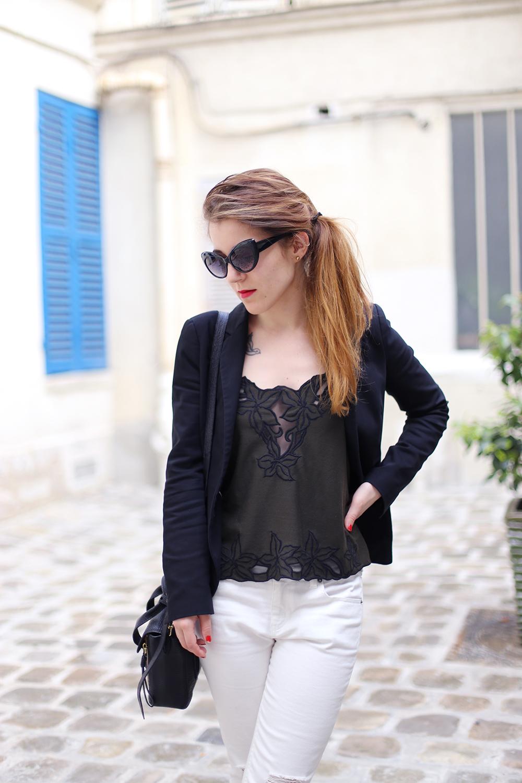 white jeans elodie in paris. Black Bedroom Furniture Sets. Home Design Ideas