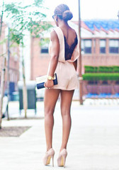 V Back Lace Romper - Apricot - Lookbook Store