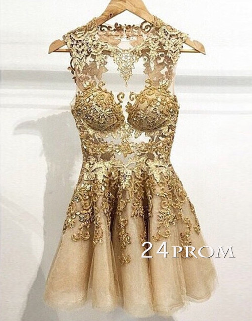 Champagne Homecoming Dress