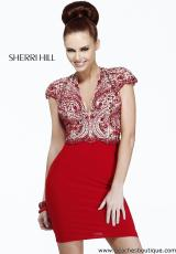 Sherri Hill Short Homecoming Dress 21208 at Peaches Boutique