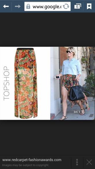 skirt maxi skirt long splits