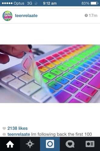 coat colourful rainbow keyboard cover stickers computer phone cover