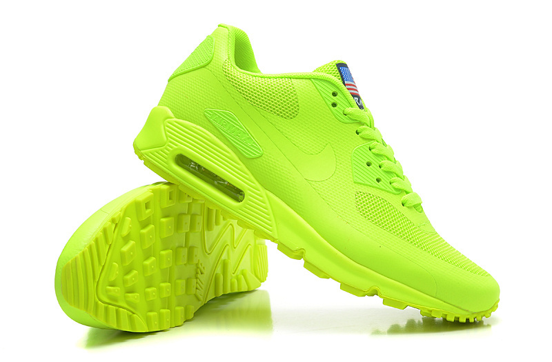 best loved b5069 89384 nike air max 90 hyperfuse neon yellow shoes