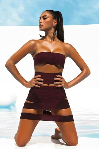 nicole scherzinger summer summer outfits bandeau top editorial