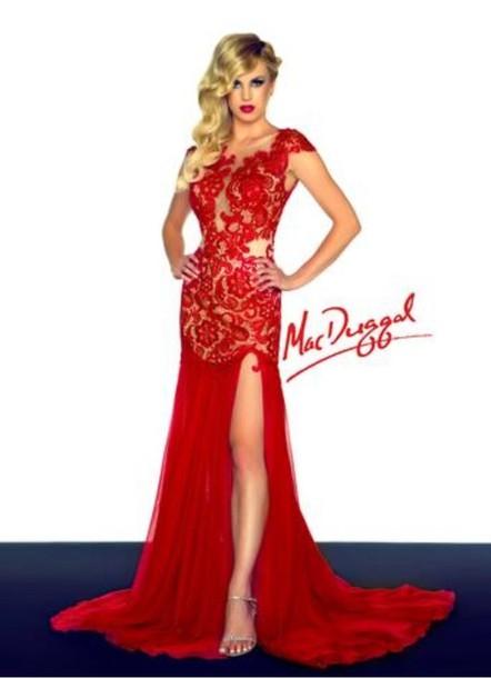 dress black red prom macduggal macdougalprom