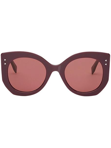 Fendi Eyewear women plastic sunglasses purple pink