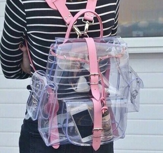bag i need these so bad pinkbag clear backpack