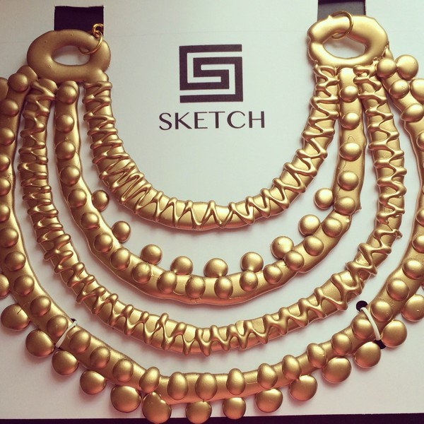 jewels trendy gold necklace necklace glamour instagram miami