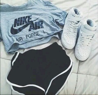 shorts shirt nike nike air cropped