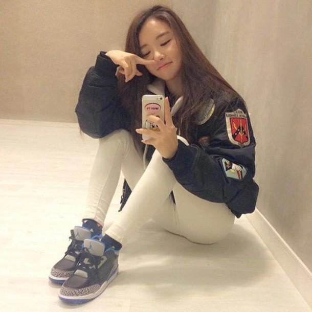 Shoes Jacket Vintage Punk Aesthetic Leather Patch Internet Tumblr Asian Soft Grunge
