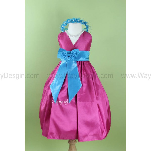 flower girl dress fuchsia flower girl dress